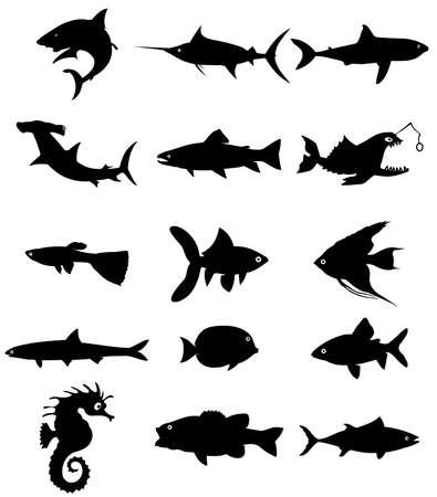 fish silhouette Векторная Иллюстрация