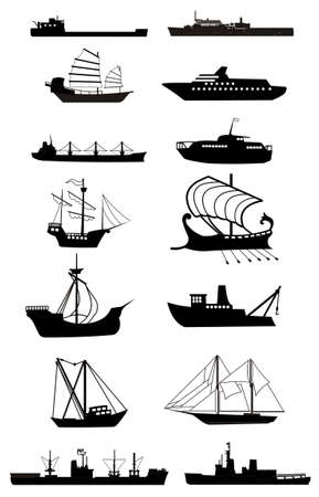 ship silhouette vector file Stock Vector - 3553686