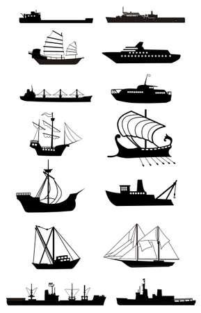 ship silhouette vector file Stock Vector - 3553686
