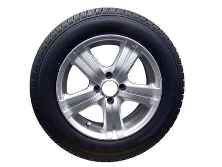 aluminum wheels: neum�tico con llanta de aluminio aislado