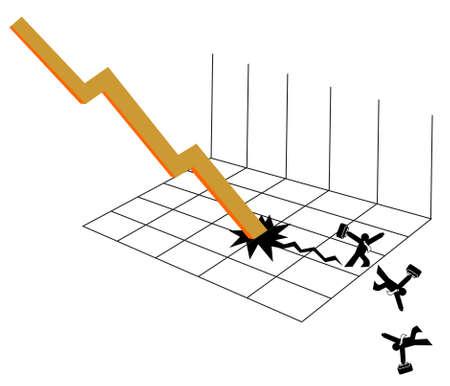 hypothec: hypothec credit crisis vector file Illustration