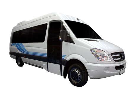 motorbus: comfort mini bus isolated