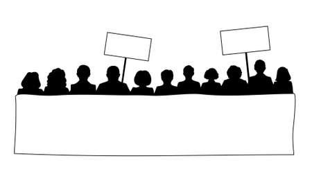 people demonstration vector file