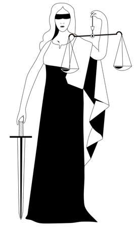 justice statue: justice statue vector illustration Illustration