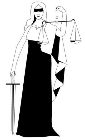 jus: justice statue vector illustration Illustration