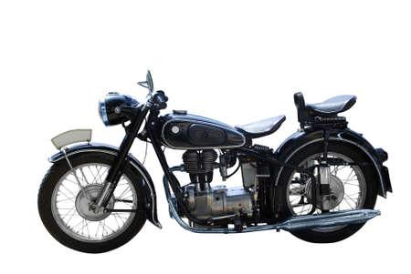 rarity: oldtimer motorcycle isolated Stock Photo