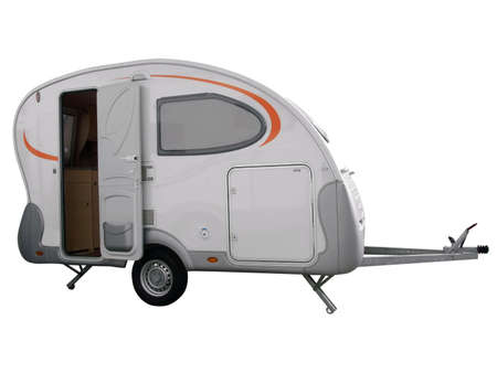 camping trailer vehicle isolated photo