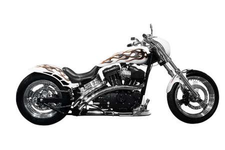 attractive motorbike isolated Stock Photo