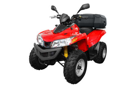 quad: 4x4 atv with trunk isolated Stock Photo