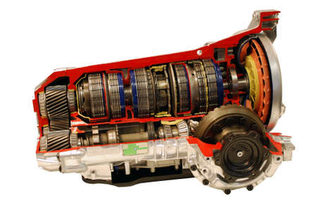 transmission: car automatic transmission part isolated