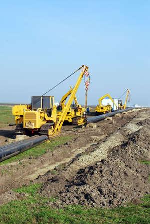chantier de construction de gazoduc