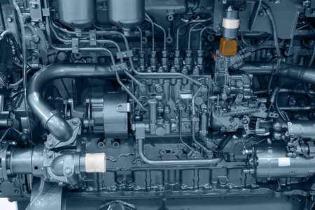 motor boat: ship engine close detail Stock Photo
