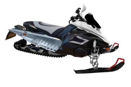 ski-doo snowmobile isolated Stock Photo