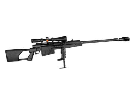 long range: long range sniper rifle isolated