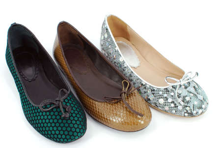 lady flat shoes Stock Photo