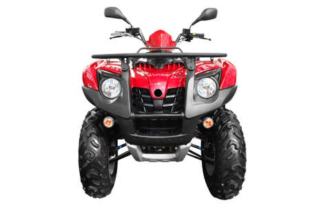 throttle: front view of atv quad-bike isolated Stock Photo