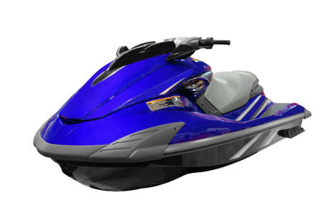 jetski: front view of jet-ski isolated
