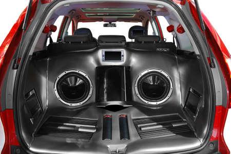 aparato reproductor: sistema de audio de potencia de coche