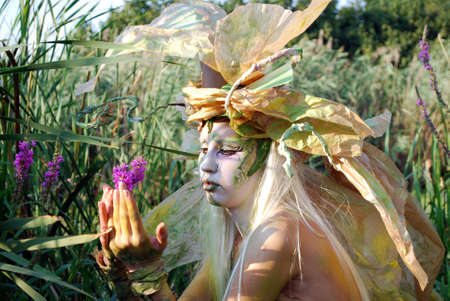 fairy girl with flower photo
