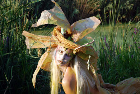 fairy girl face and body paint photo