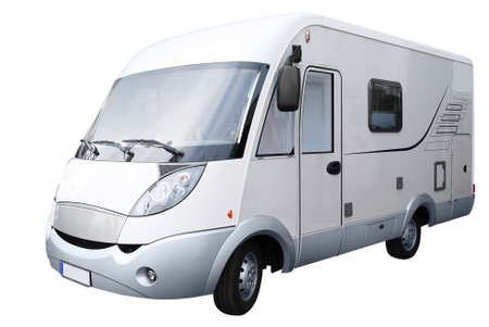 rv: rv truck isolated Stock Photo