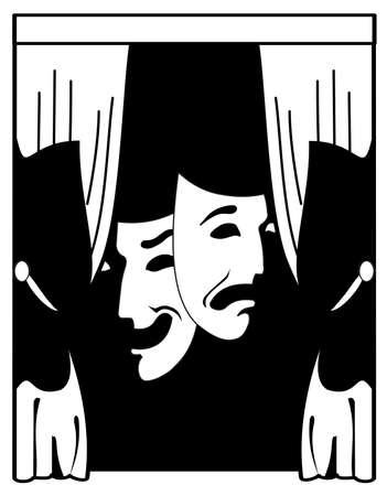perfomance: theater vector illustration