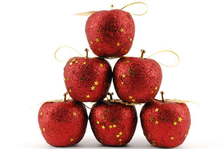 Christmas decoration red apple photo