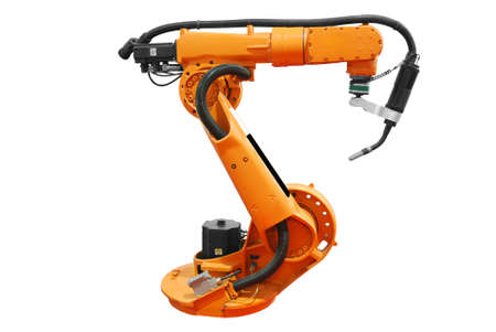 industrial robotic arm isolated Stock Photo - 5992356