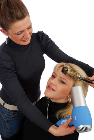 hairdressing salon with two girls photo