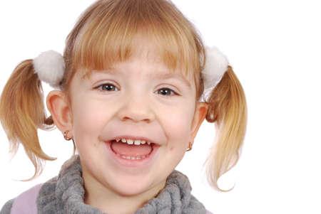 happy little girl smiling photo