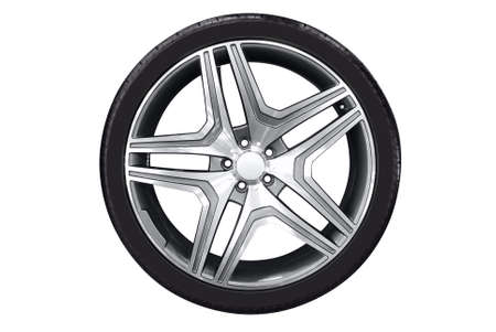 car wheel with aluminu rim photo