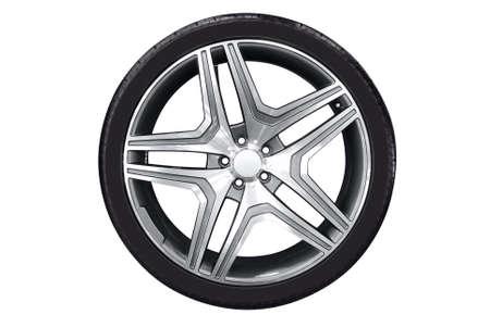 llantas: rueda de coche con borde de aluminu