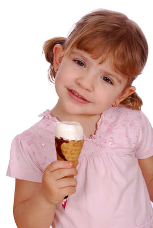 little girl with ice cream photo