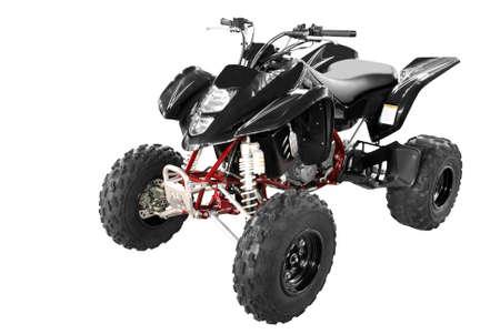 throttle: black 4x4 quadbike isolated
