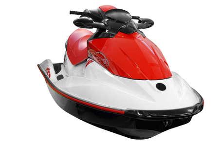 moto acuatica: r�pido jet ski aislado  Foto de archivo