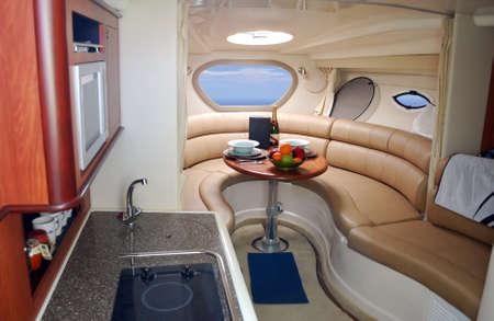 new luxury yacht interior photo
