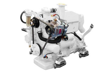 inner cylinder: white ship engine isolated