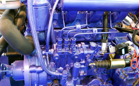 inner cylinder: ship engine close detail Stock Photo