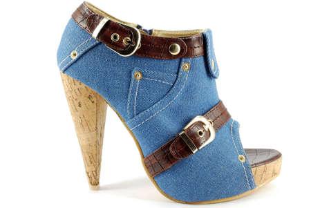 open toe: woman high hell open toe jeans shoe