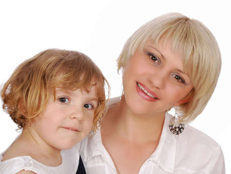 beauty little girl with mother Stock Photo - 7033703