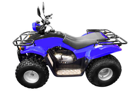 blue 4x4 quad-bike atv isolated photo