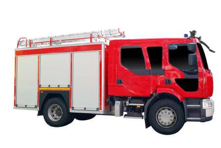 camion pompier: feu de camion isol�e sur fond blanc