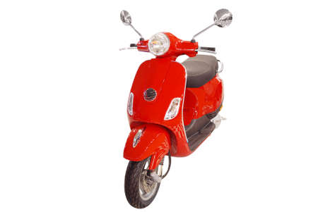 red city scooter front view isolated