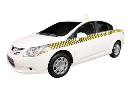 taxi: coche de taxi aislada  Foto de archivo