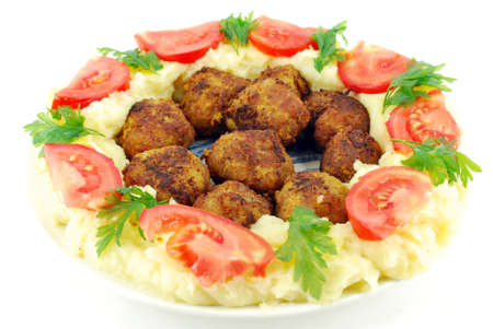 meatballs with potato and tomatoes Stock Photo - 7477161