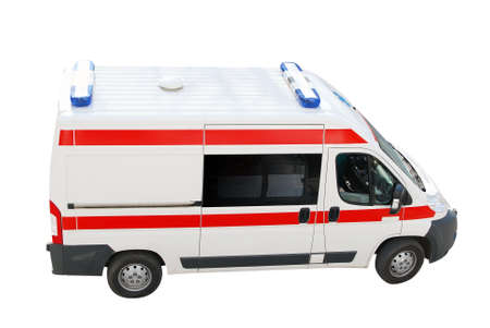 ambulance emergency car top perspective photo