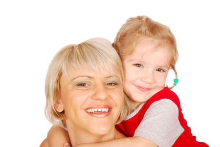 happy mother and daughter Stock Photo - 7579010
