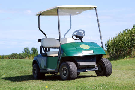 outfield: golf buggy