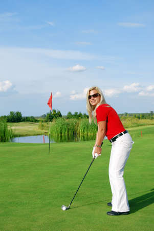 girl golf player photo