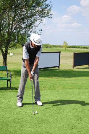 senior golf player photo